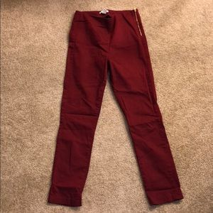 H&M ankle pants with side zipper in Eur size 38.